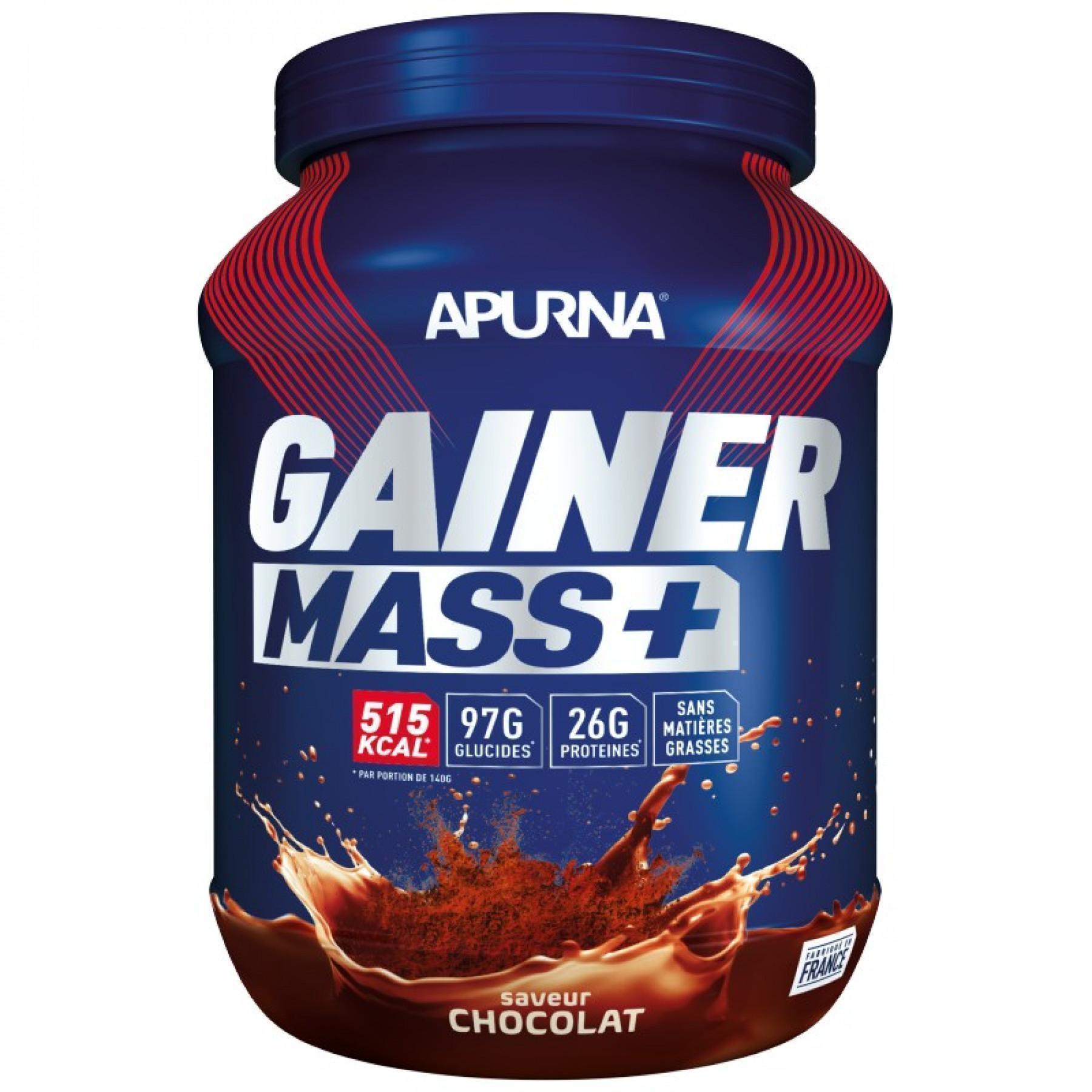 Topf Apurna Gainer Mass Plus - Chocolat - 1.1 Kg