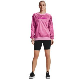 Damen Sweatshirt mit Rundhalsausschnitt Under Armour RECOVER™ Woven Shine