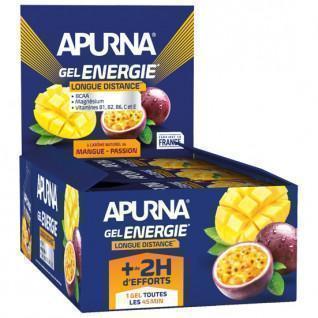 Packung mit 24 Gelen Apurna Energie Mangue Passion- 35g