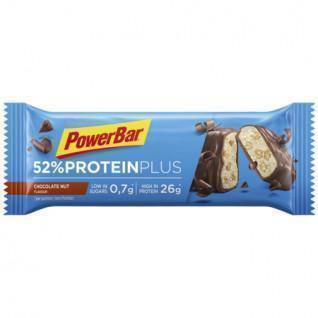 Packung mit 20 Riegeln PowerBar 52% ProteinPlus Low Sugar Chocolate Nut