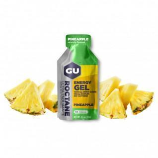 Packung mit 24 roctane Gelen Gu Energy ananas sans caféine